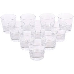 Set of Ten Baccarat Oversized Double Old Fashion Glasses