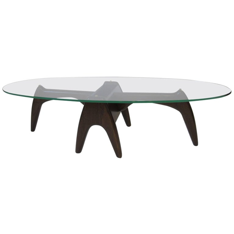 Mid Century Modern Coffee Table With Planter: Mid-Century Sculptural Pearsall Style Coffee Table With