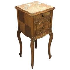 20th Century Louis XV Walnut Bedside Cabinet