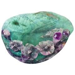 Violet Fluorite Dish, Gem Stone Dish