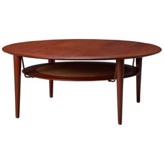 FD 515 Round Sofa Table by Peter Hvidt & Orla Mølgaard Nielsen for France & Son