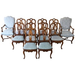 Set of 12 French Provincial Dining Chairs by Baker Furniture