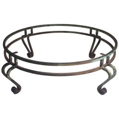 Large Round Maison Ramsay Wrought Iron Coffee Table
