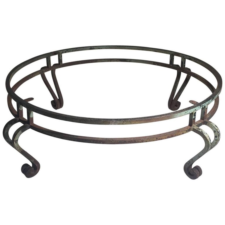 Large Round Maison Ramsay Wrought Iron Coffee Table For Sale At 1stdibs