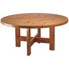 Roland Wilhelmsson Pine Table, Sweden, 1960s
