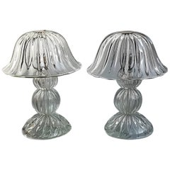 Seguso, Two Table Lamp, Iridescent, 1950