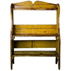 1910 Pine Country Pail Bench in Original Paint