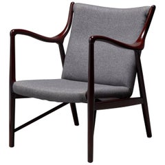 Rosewood Finished Danish Modern Chair in Style of Finn Juhl / Niels Vodder NV45