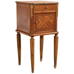 Antique Bedside Table, Mahogany Pot Cupboard, Nightstand, circa 1900