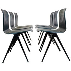Extraordinary Two-Toned Stackable Pagholz Galvanitas S22 Industrial Diner Chairs