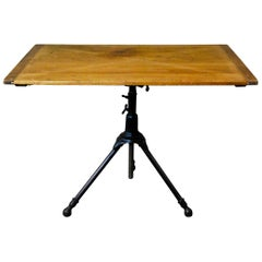 1910 A. Hoffman Cast Iron Adjustable American Drafting Table