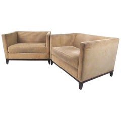 Pair of Stylish Modern Club Chairs by Christian Liaigre for Holly Hunt