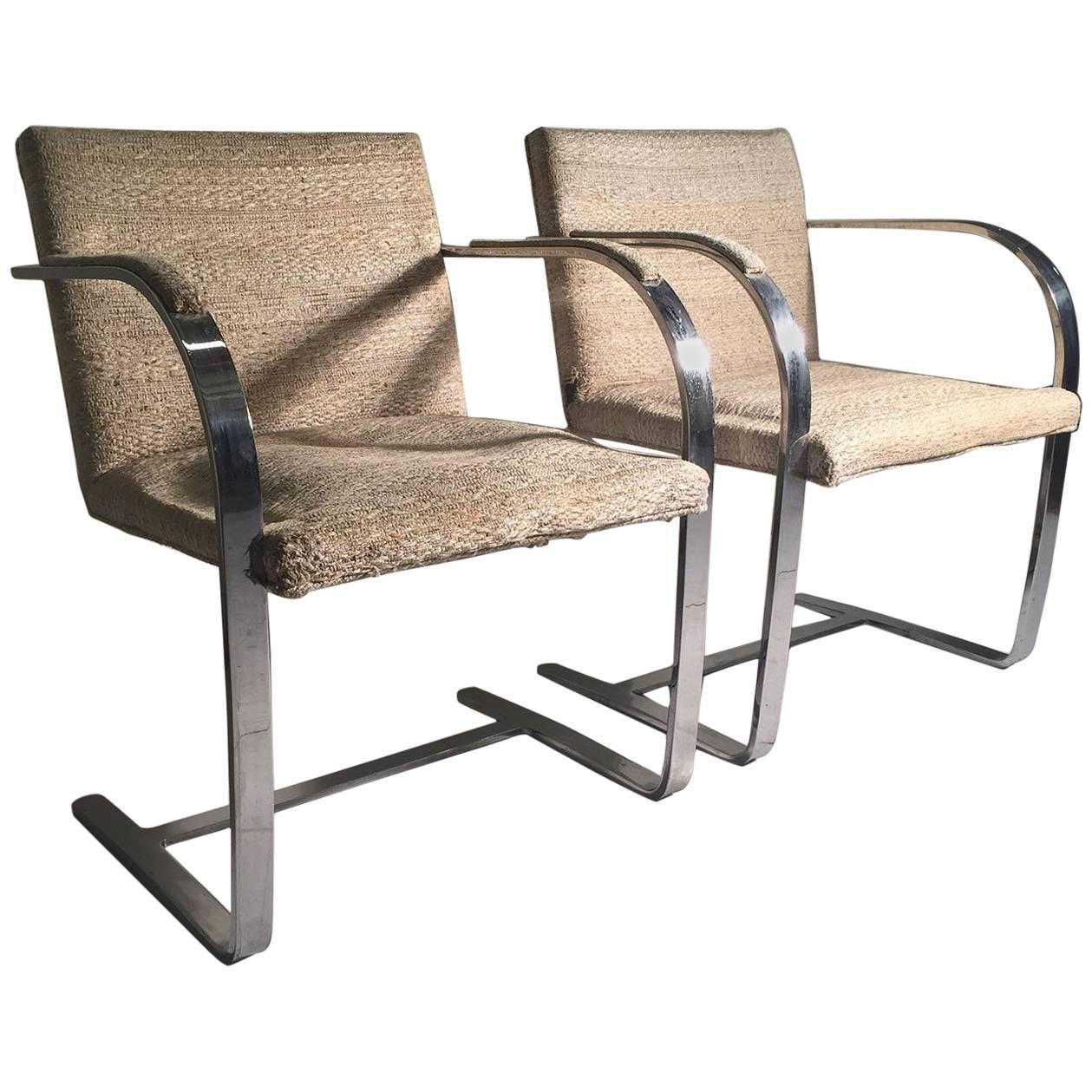 Pair Of Vintage Mies Van Der Rohe Knoll Brno Chairs For Sale