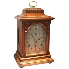 Oak Westminster Chime Bracket Clock