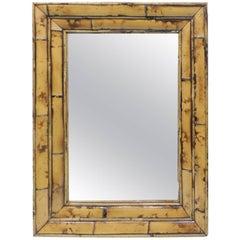 Vintage Rectangular Bamboo Mirror