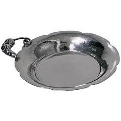 Midcentury Sterling Silver Dish Bowl, Carl Poul Petersen, Montreal, circa 1950
