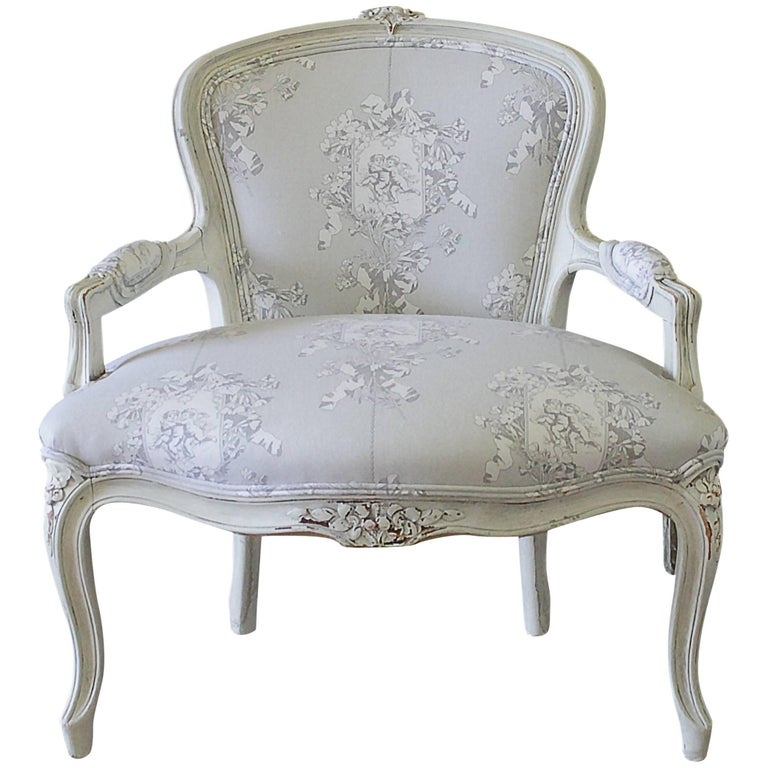Early 20th Century Louis Xv Style Painted Childs Chair In