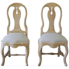 Pair of Late 18th Century Swedish Dining Room Chairs