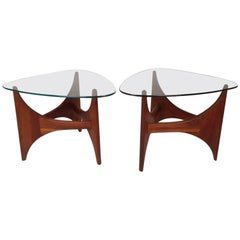 Pair of Mid-Century Modern Triangular End Tables by Adrian Pearsall