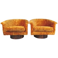 Pair of Swivel Club Chairs by Adrian Pearsall for Craft Associates