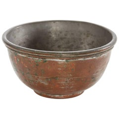 Early 20th Century Small Double Copper Bowl from Argentina
