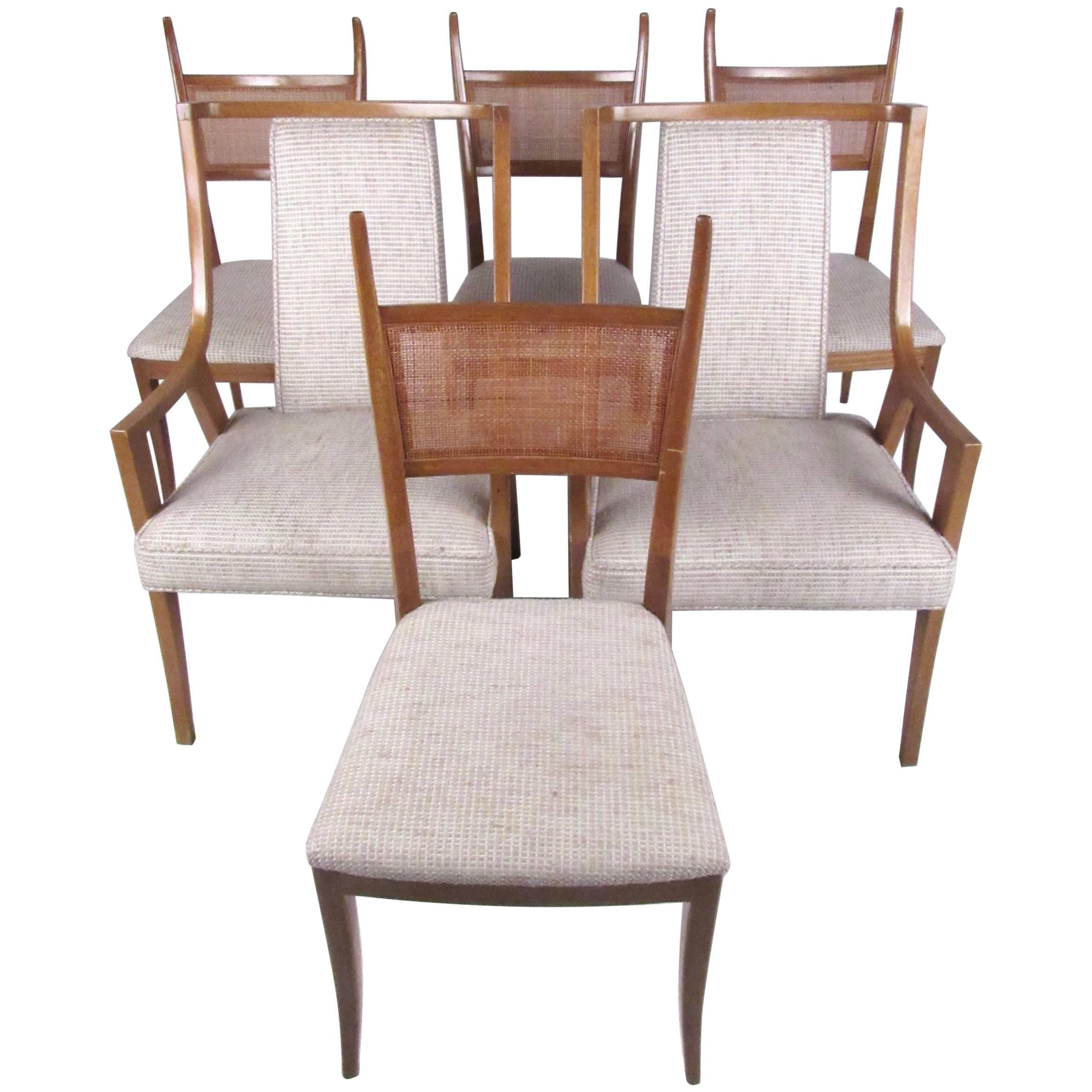 Stylish Set of Six Harvey Probber Dining Chairs