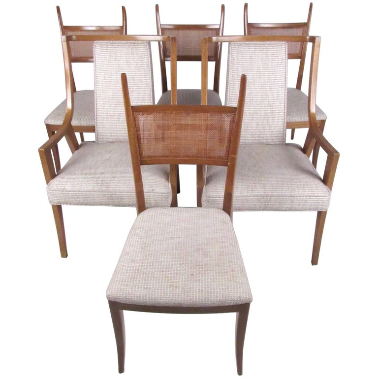 Stylish Set Of Six Harvey Probber Dining Chairs For Sale