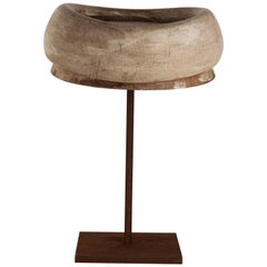 Early 20th Century Milliner Wooden Hat Block from Florence, Italy