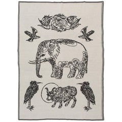 Elephant and Friends Blanket by Saved, New York