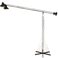 Black Crane Boom Lamp in Matte Black