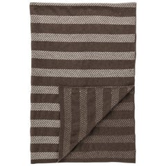 Dark Stripe Blanket by Saved, New York