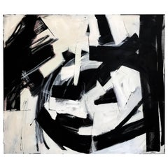 Black and White Abstract iconic Palm Springs Artist