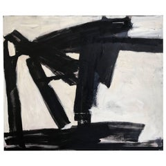 Black and White Abstract by Noted Palm Springs Artist Donald Lloyd Smith