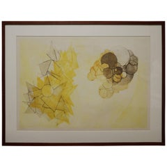 Abstract Lithograph by Klaus Ertel