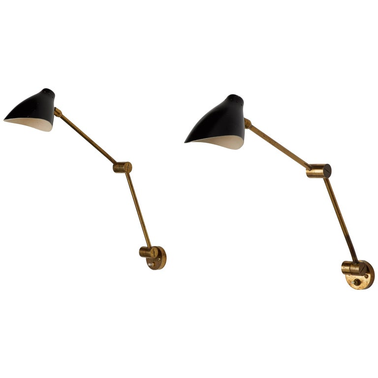 Pair of Wall Lights by Angelo Lelli for Arredoluce For Sale