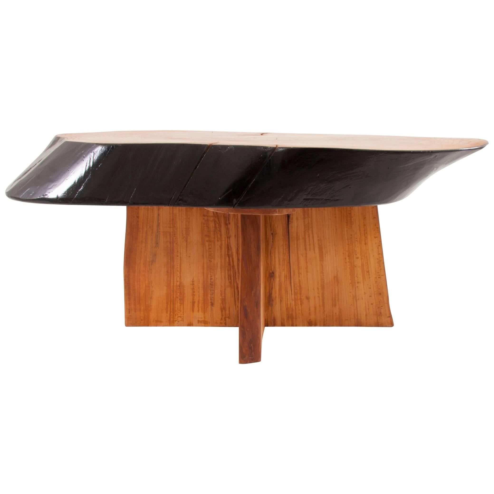 Impressive Maple Tree Trunk Coffee Table In The Style Of George Nakashima 1950s