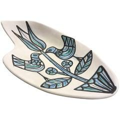 Roger Capron Beautiful and Large Ceramic Dish or Vide-Poche, circa 1960