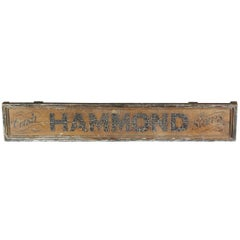 Early 20th Century Hand-Painted Trade Sign