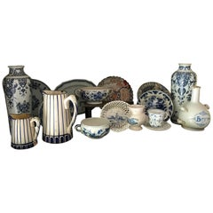 """Blue faience"" Collection (17i)Delft 18th  Dutch Flemish French Portuguese Items"