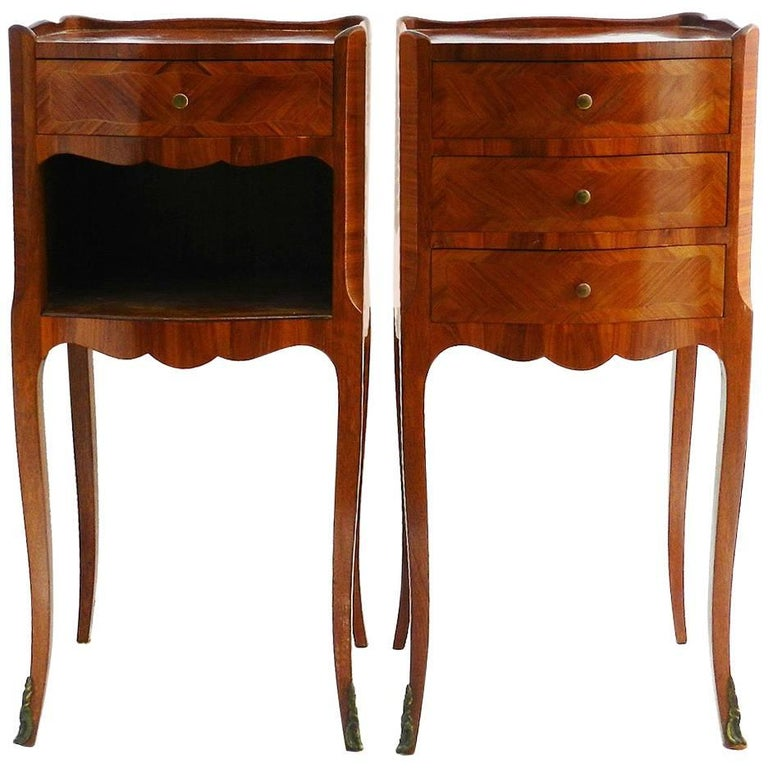 Pair of nightstands or bedside tables french louis revival early pair of nightstands or bedside tables french louis revival early 20th century for sale watchthetrailerfo