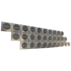 Fantastic Set of Plastic Modules Forming Wall Shelve, circa 1970