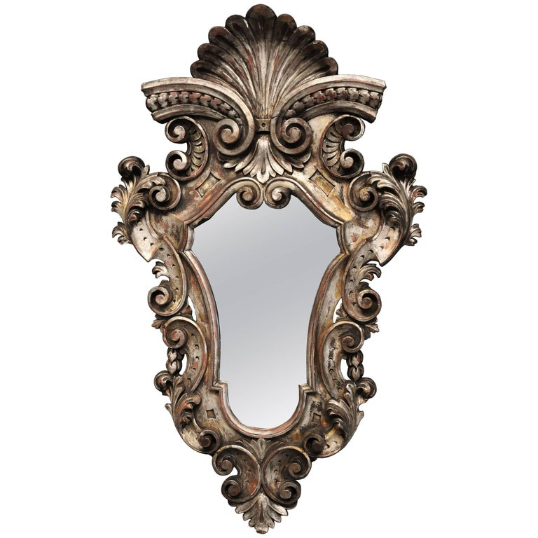 Highly decorative late 19th century italian silver for Rococo decorative style