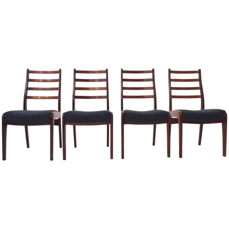 British g plan set of four teak and blue wool dining for G plan dining room furniture sale