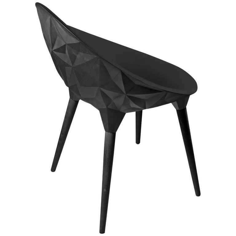 Rock Dining Chair by Diesel for Moroso in Black, White or Grey For Sale
