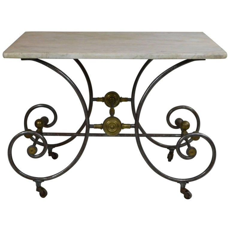 Bakery Table with White Marble Top