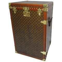 1930s Louis Vuitton Secretaire or Desk Trunk Monogram Antique Trunk