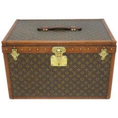 1920s Louis Vuitton Monogram Double Hatbox Trunk