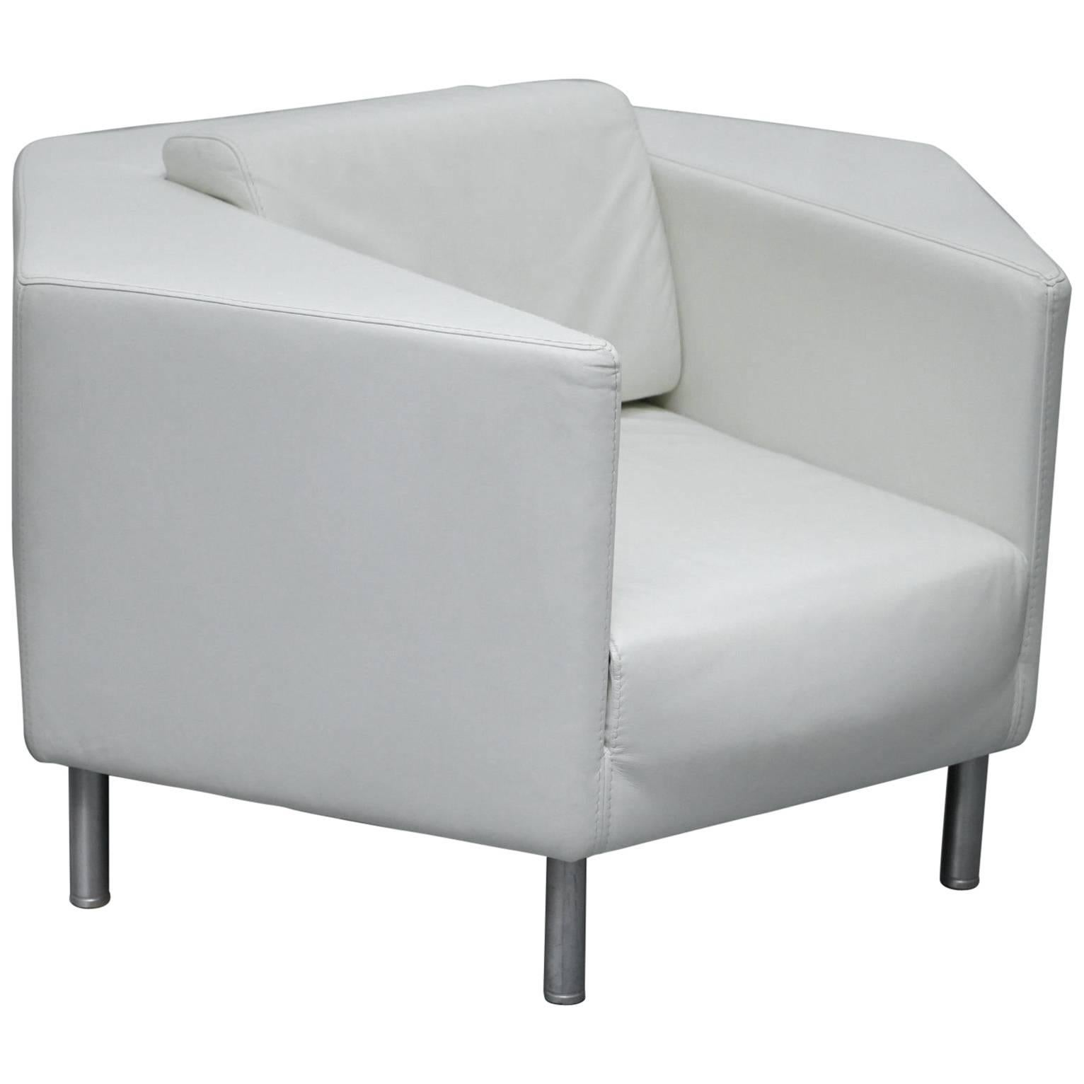 Black Lacquer Arm Chair In White Leather For Sale At 1stdibs