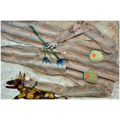 """La Signora Degli Iris"", Nude, Franco Farina, Italy, 2016, Painting on Wood"