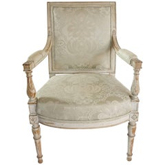 French Directoire Fauteuil or Armchair in Original Paint, circa 1795